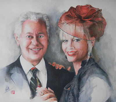 Painting - Adie And Aldo by Alan Kirkland-Roath