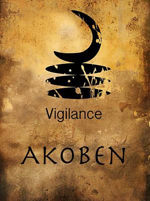 Adinkra  Akoben Art Print