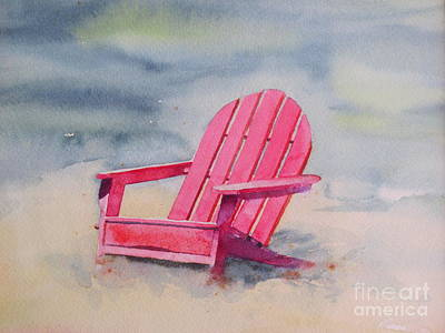 Adirondack At The Beach Art Print