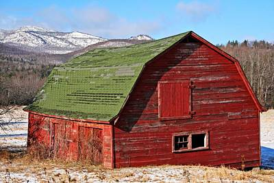 Country Scene Photograph - Adirondack Barn by Heather Allen