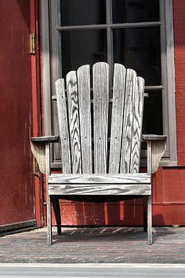 Photograph - Adirondack Chair by Ely Arsha