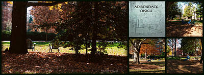 Photograph - Adirondack Chairs Collage6 by Paulette B Wright