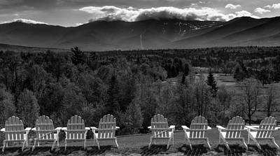 Mountain View Photograph - Adirondack Chairs by Joseph Smith