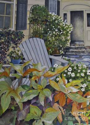 Painting - Adirondack Chairs by Karen Olson