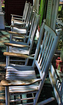 Adirondack Chairs Skaneateles Ny Art Print
