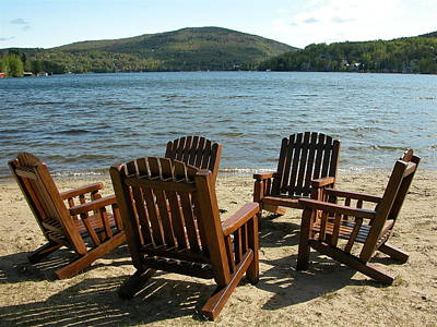 Valerie Paterson Wall Art - Photograph - Adirondack Chairs by Valerie Paterson