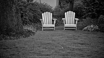 Adirondack Lawn Chair Monotone Art Print by Berkehaus Photography