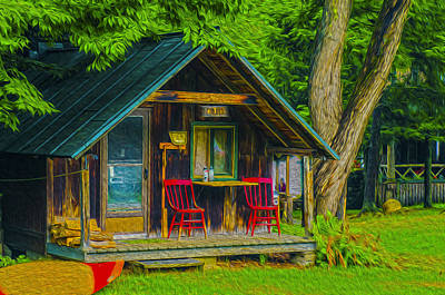 Photograph - Adirondack Retreat by Torrey McNeal