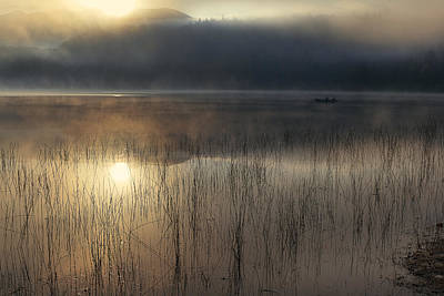 Adirondacks Photograph - Adirondack Sunrise by Magda  Bognar