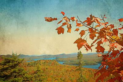 Adirondacks In Red Orange And Blue  Art Print by Brooke T Ryan