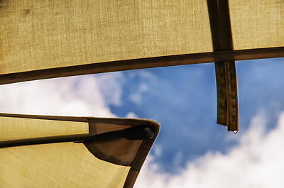 Photograph - Adjacent Umbrellas In Passing Rain by Gary Slawsky
