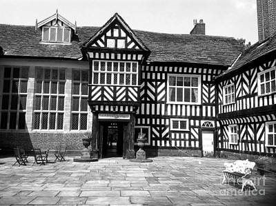 Photograph - Adlington Hall Courtyard Bw by Joan-Violet Stretch