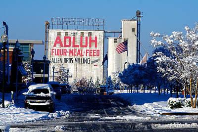 Feed Mill Photograph - Adluh Flour Meal Feed Snow 1 by Joseph C Hinson Photography