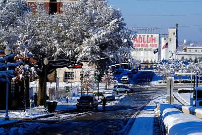 Photograph - Adluh Flour Snow by Joseph C Hinson Photography