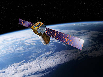 Adm-aeolus Satellite Art Print by Esa-p.carril