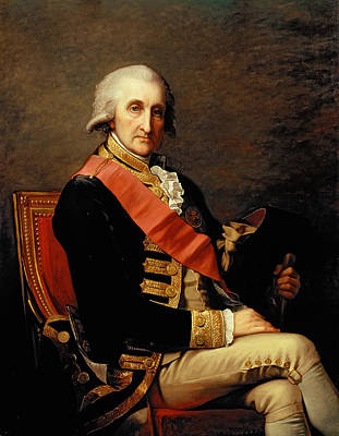 Admiral George Brydges Rodney Art Print by Jean Laurent Mosnier