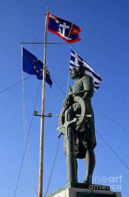 Photograph - Admiral Miaoulis Statue In Hydra Island by George Atsametakis