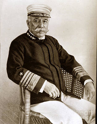 Photograph - Admiral Of The Navy George Dewey Seen In 1899 On The Uss Olympia by California Views Mr Pat Hathaway Archives