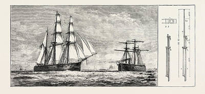 Admiral Schombergs Proposed New Rig For Men-of-war Art Print