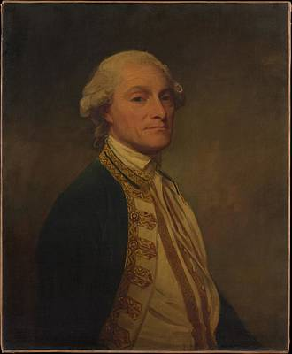 Romney Painting - Admiral Sir Chaloner Ogle 1726-1816 by George Romney
