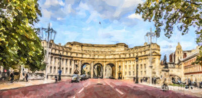 London Digital Art - Admiralty Arch London England by Liz Leyden