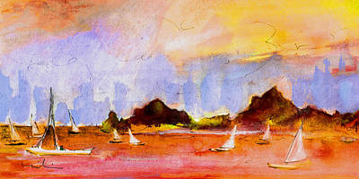 Painting - Admiralty Bay Bequia 01 by Miki De Goodaboom