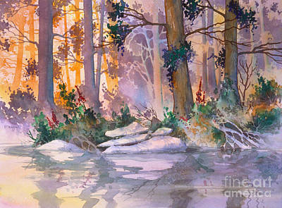 Water Filter Painting - Admiralty Forest For Fran by Teresa Ascone