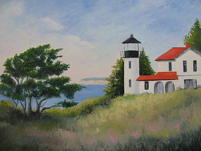 Wa Painting - Admiralty Head Lighthouse by Becky Bragg