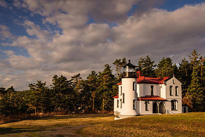 Sunset Photograph - Admiralty Head Lighthouse by Dan Mihai