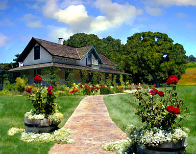 Photograph - Adobe Alamo Pintado Rideau Vineyards by Kurt Van Wagner