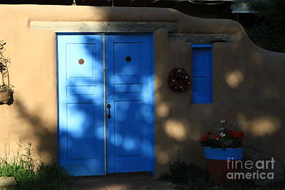 Photograph - Adobe And Blue by Edward R Wisell