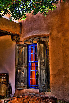 Photograph - Adobe Cafe Window In New Mexico by David Patterson