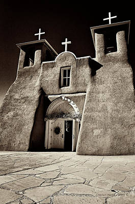 Mixed Media - Adobe Church by Charles Muhle