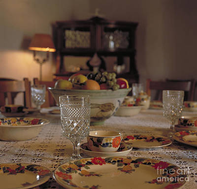 Photograph - Adobe Dining Table by Kathleen Gauthier
