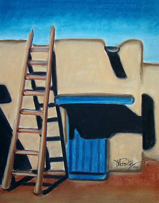 Painting - Adobe Ladder by Michael Foltz