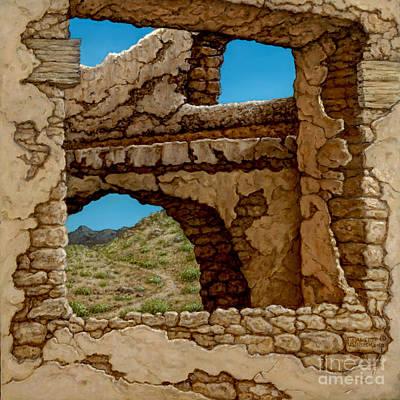 Painting - Adobe Near Taos II by Janet  Kruskamp
