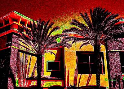Photograph - Adobe Palms by Sadie Reneau