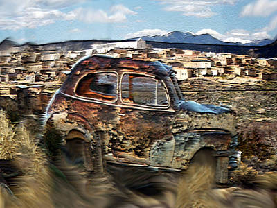 Mixed Media - Adobe Town by Dennis Buckman