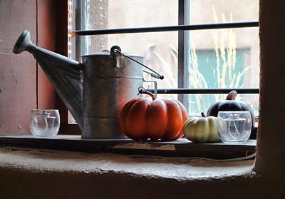 Photograph - Adobe Window Autumn Still Life C1 by Robert Meyers-Lussier