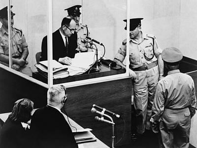 Adolf Photograph - Adolf Eichmann Testifying At His War by Everett