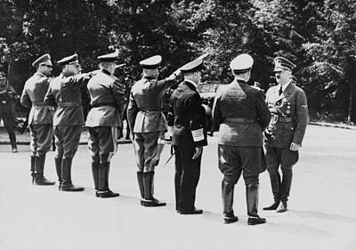 Goering Photograph - Adolf Hitler Arrives At The Ceasefire by Everett