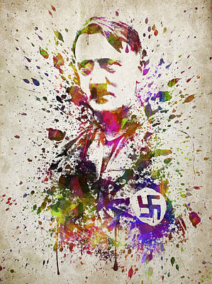 Mein Kampf Digital Art - Adolf Hitler In Color by Aged Pixel