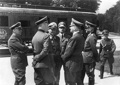 Goering Photograph - Adolf Hitler In Compiegne, France. He by Everett