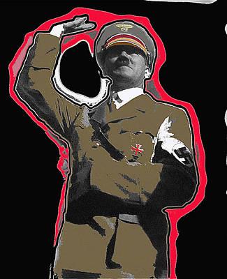 Adolf Hitler Saluting 2 Circa 1933-2009 Art Print by David Lee Guss