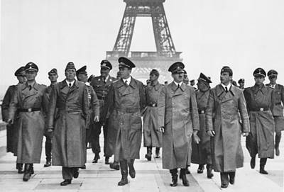 Adolf Hitler Touring Conquered Paris Art Print by Everett