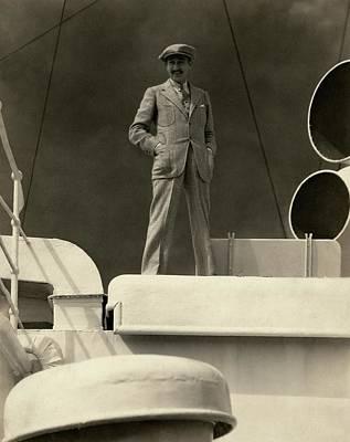 Watercraft Photograph - Adolphe Menjou On The Deck Of A Ship by Edward Steichen