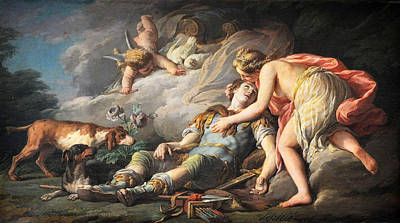 Transform Painting - Adonis Transformed By Venus Into An Anemone by Nicolas Bernard Lepicie