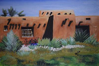 Land Of Enchantment Painting - Adobe Abode by Reba Baptist