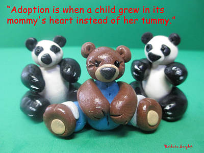 Bear Digital Art - Adoption Is by Barbara Snyder