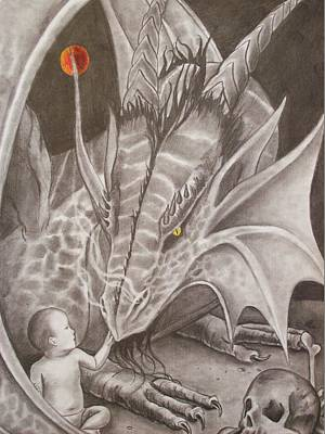 Stanford Drawing - Adoptive Mother by Amber Stanford
